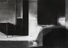Untitled 2013, charcoal on paper, 35 x 25,5 cm