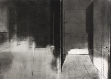Untitled 2012, charcoal on paper, 35 x 25,5 cm