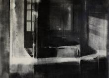 Untitled 2013, charcoal on paper, 60 x 50 cm