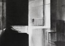 Untitled 2013, charcoal on paper, 30 x 29 cm